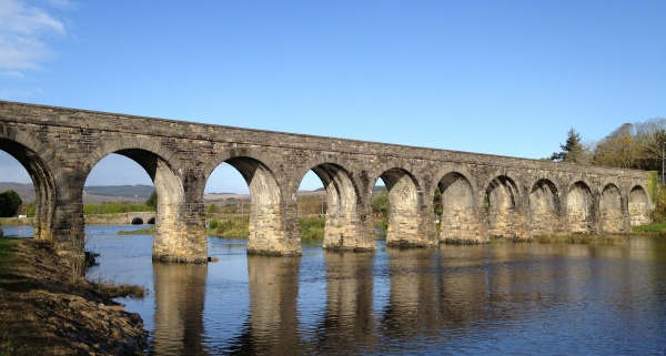 The Ballydehob 12 Arch Bridge: the last train on this narrow gauge railway ran in 1947