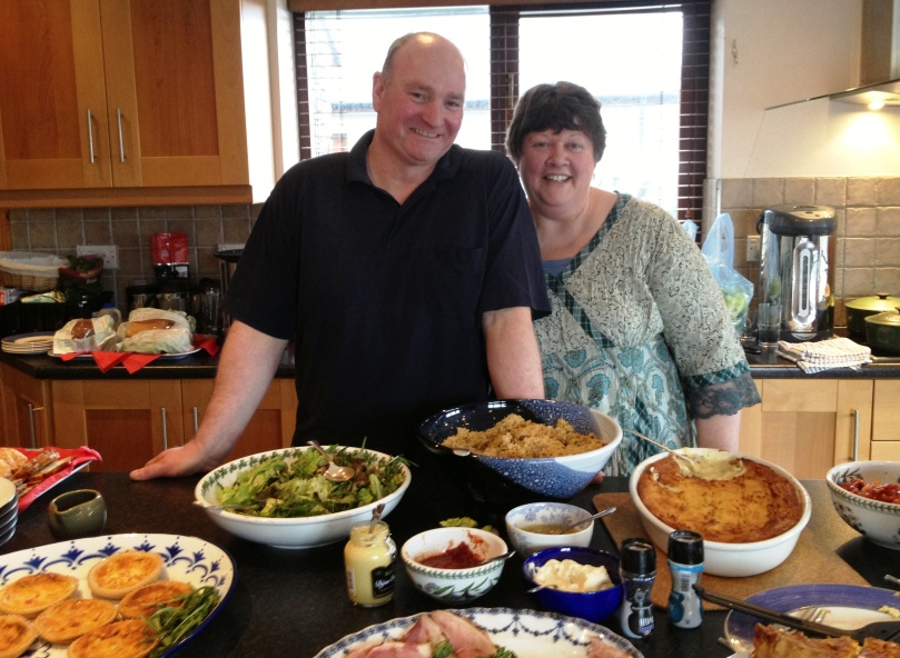 Jo and Bob, our wonderful caterers