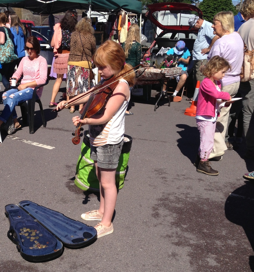 Keeping alive The Music - in the market at Skibbereen