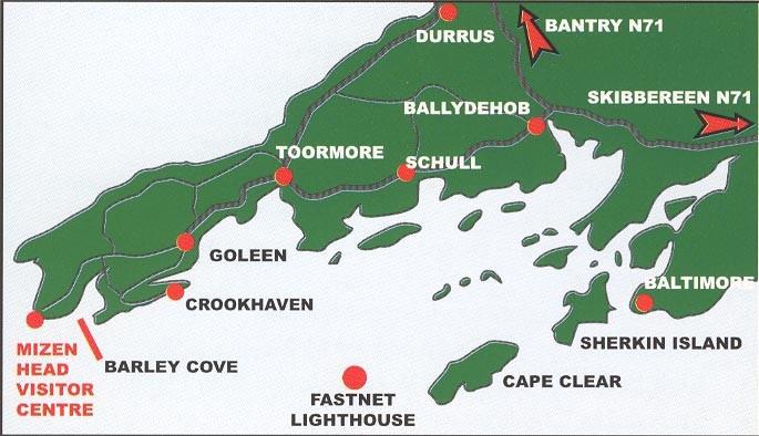 Map of Mizen and Goleen