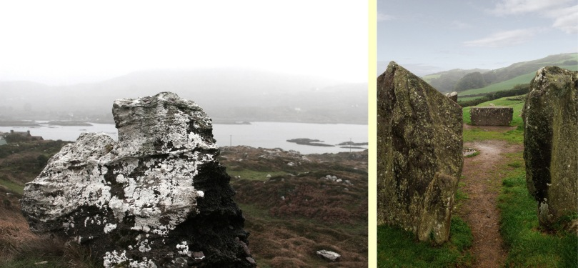 Monuments in the mist: The Hag of Beara and Drombeg Circle