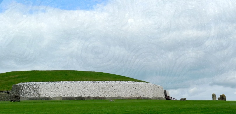 The ultimate stone monument - Newgrange Passage Grave, County Meath - the spectacular quartz facing is a conjectural reconstruction