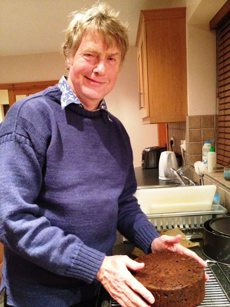 Robert's Christmas cake, fresh from the oven