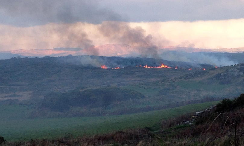 Burning hills