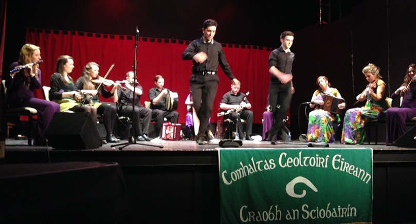 The showcase of Comhaltas talent at Skibbereen: the dancer on the left is Fernando Marcos from the Buenos Aries Branch of CCE!