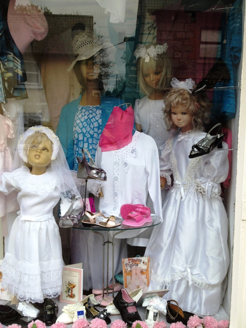 Shoes, hats and First Communion dresses