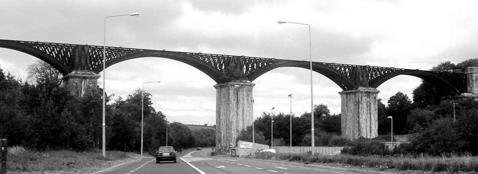 Chetwynd Viaduct today - a scheduled monument