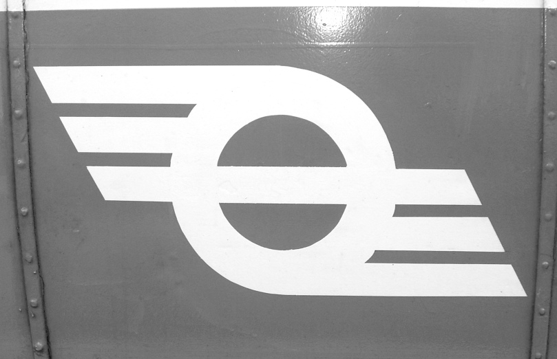 Córas Iompair Éireann - the national rail and bus company - logo used between the 1940s and 1964: known affectionately as 'The Flying Snail'