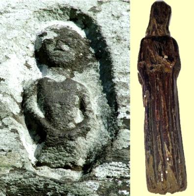 Sheela-na-gig and medieval statue