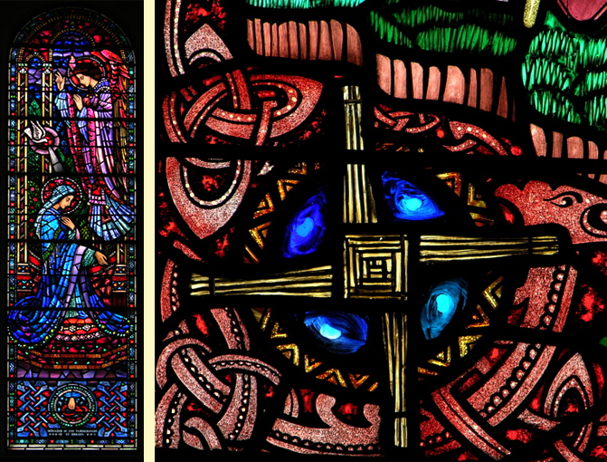 Images of St Brigid and her Cross by Harry Clarke
