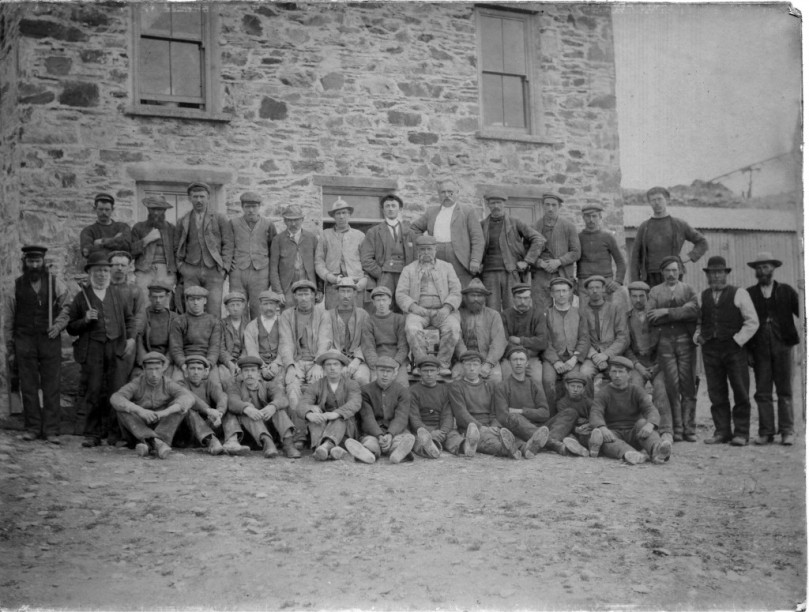 Mineworkers on Horse Island: 19th century