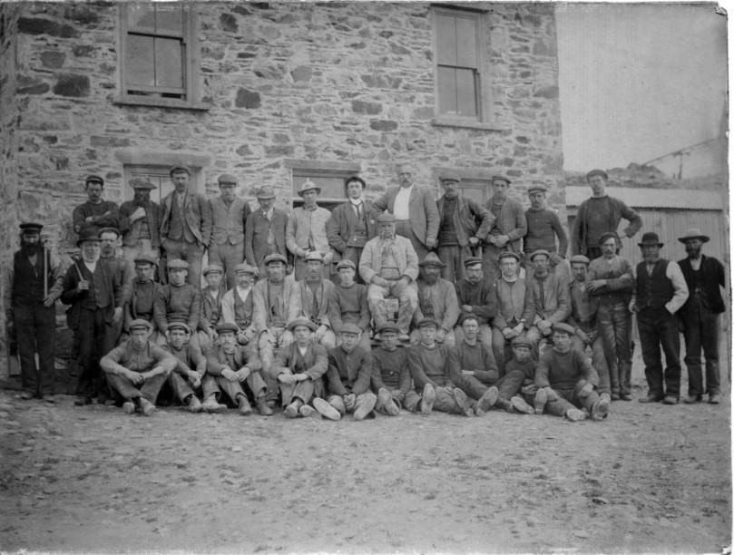 Mineworkers on Horse Island: 19th century