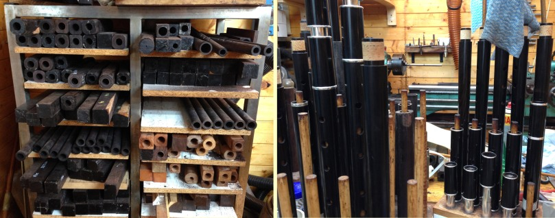 Raw material - and traditional Irish flutes in the making