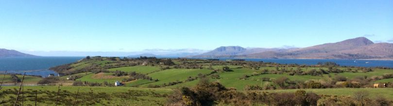 View out to Bantry Bay from the Island high point