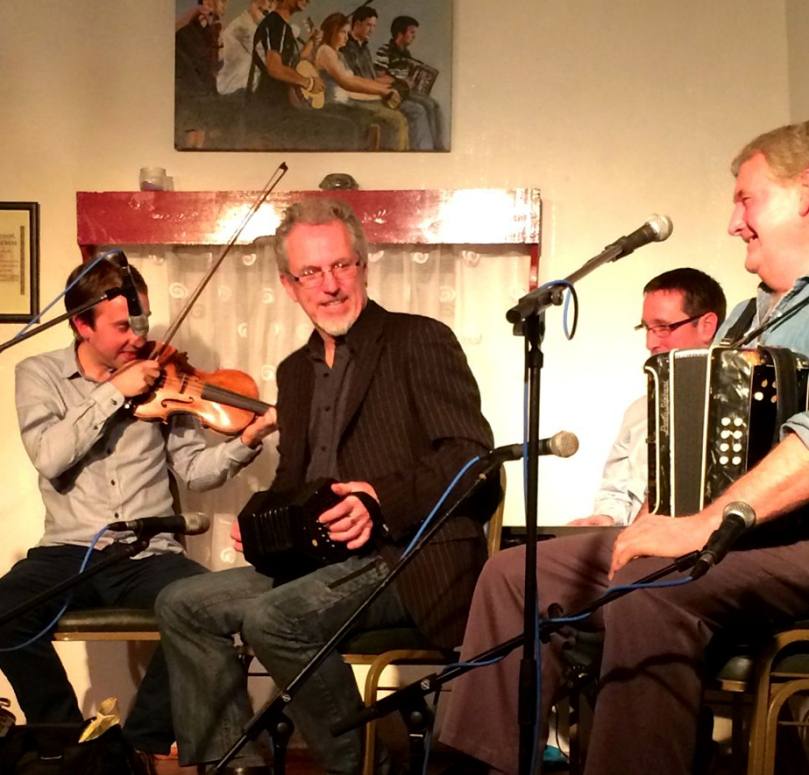 Noel Hill and Seamus Begley give a rousing finale to the Corofin Festival in Clare 2014