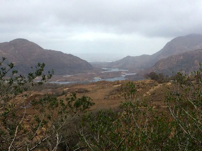 Even on a cloudy day, the Lakes of Killarney are breathtaking