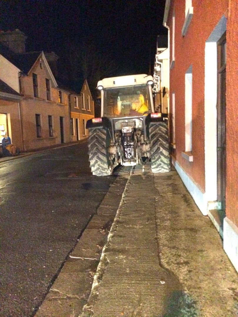 I can park my tractor in town now if I want.