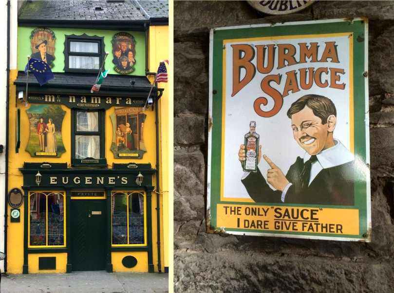 Eugene's Pub in Ennistymon/old ad in Valughan's in Kilfenora