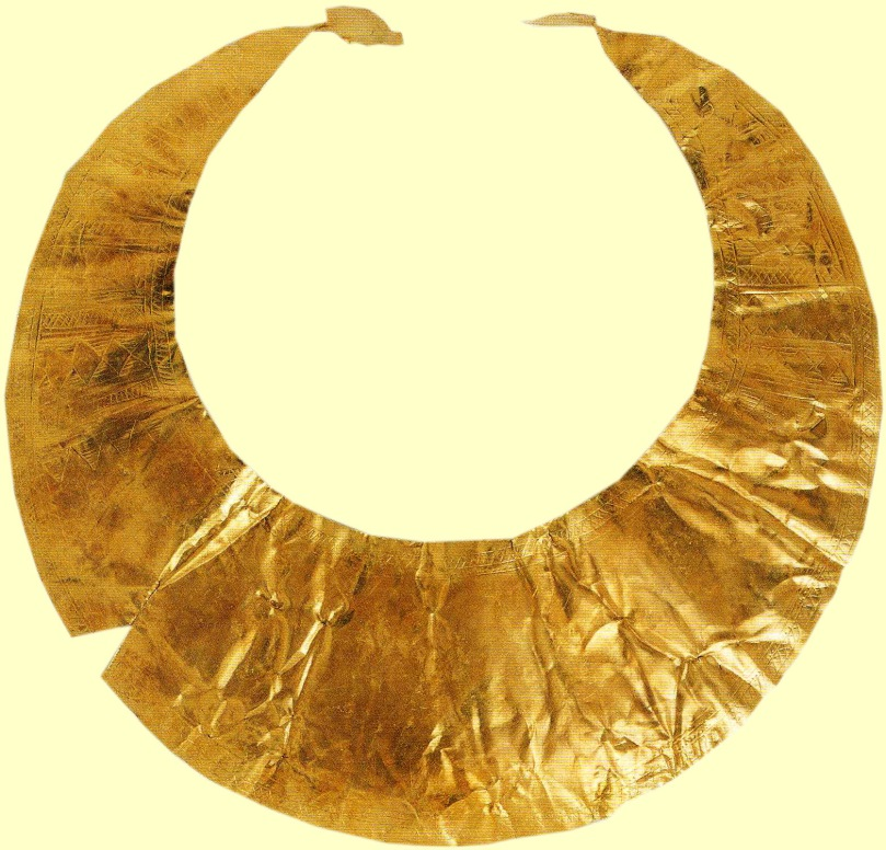 Gold Lunula from County Kerry - a 4,500 year old artefact in the National Museum