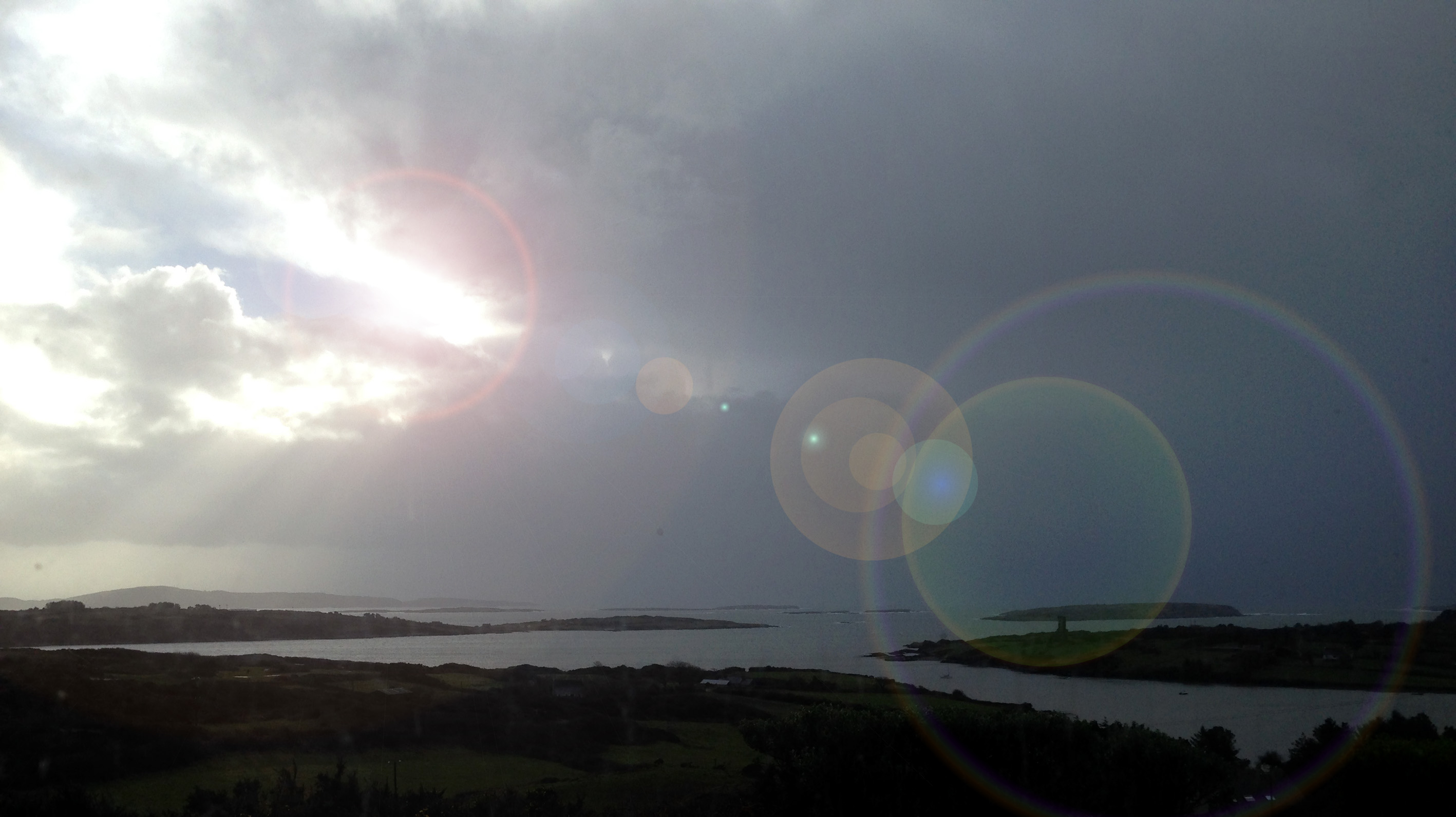 Distant Cape Clear - with solar effects