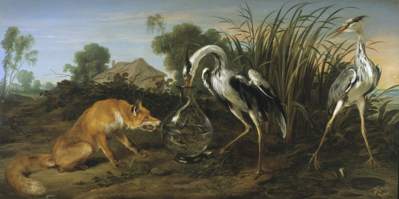 Fox and Heron - Frans Snyder 1657
