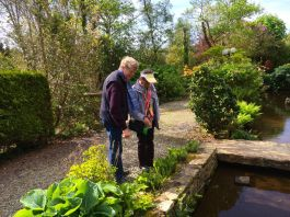 Robert and Gill by the mill stream
