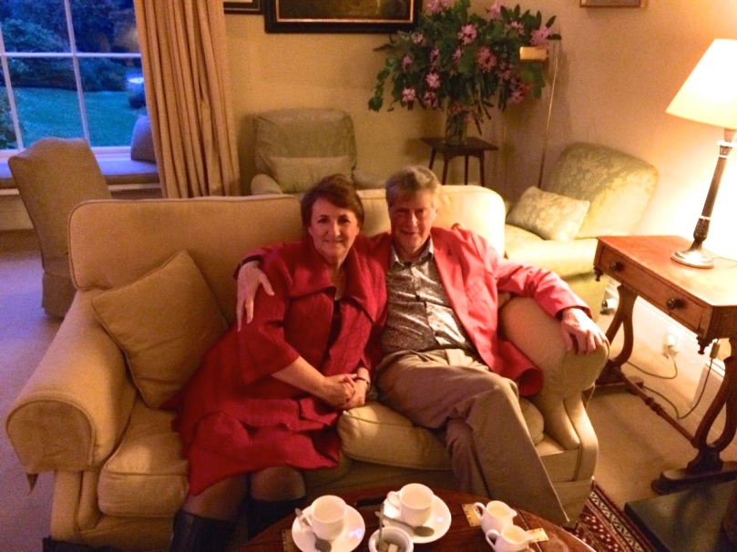Coffee in the drawing room after a magnificent dinner