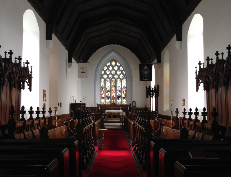 Cloyne Cathedral: the worship area, a small part of the large building
