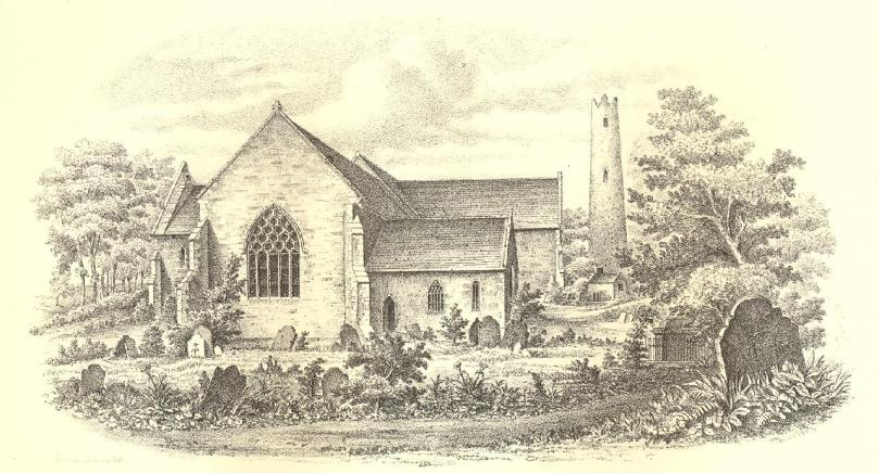 St Colman's Cathedral at Cloyne - a print from 1853