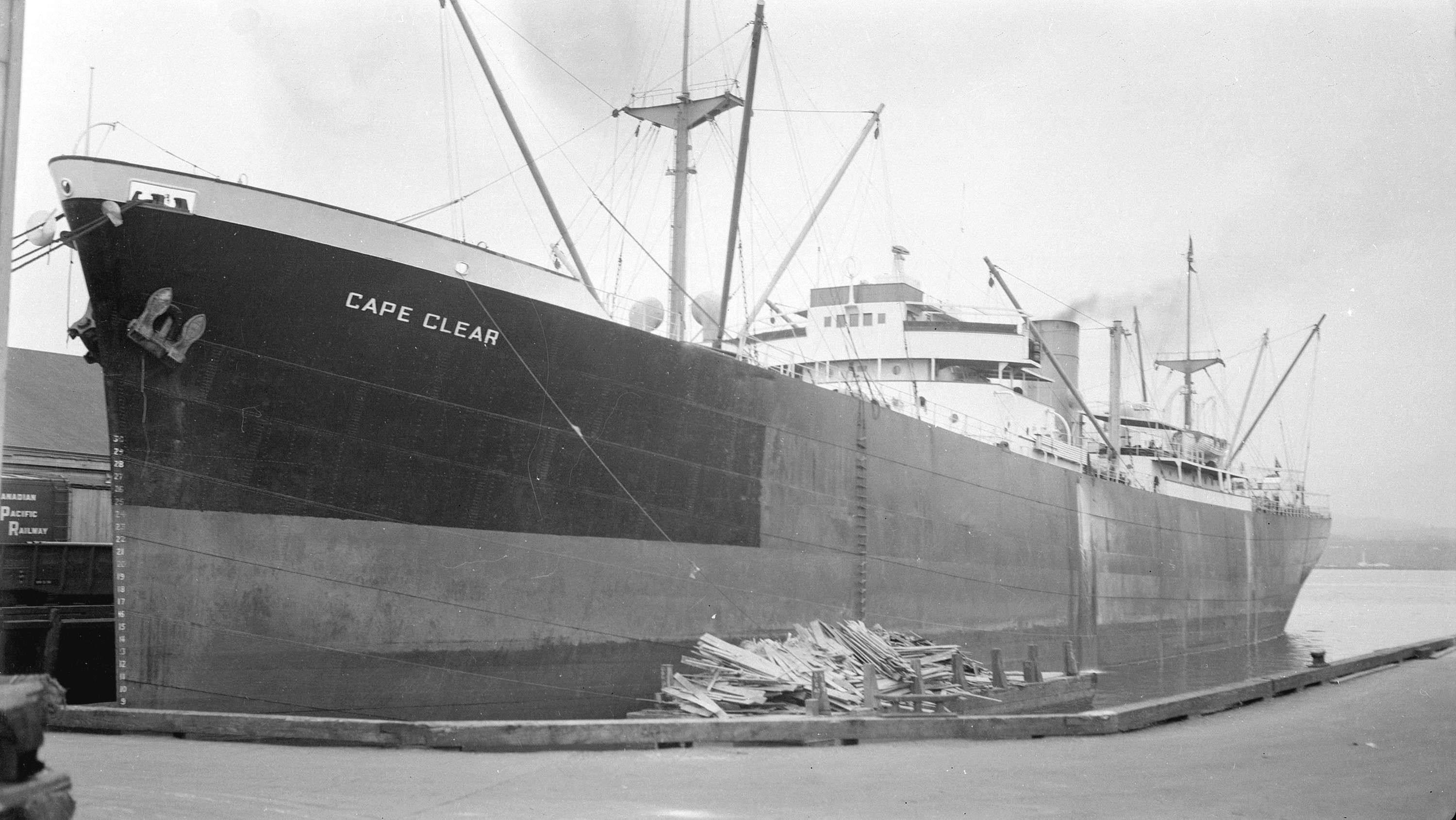 MV Cape Clear - built in Glasgow in 1939; went down in the Red Sea 1944
