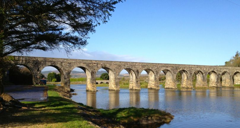 The Famous Twelve Arch Bridge in Ballydehob