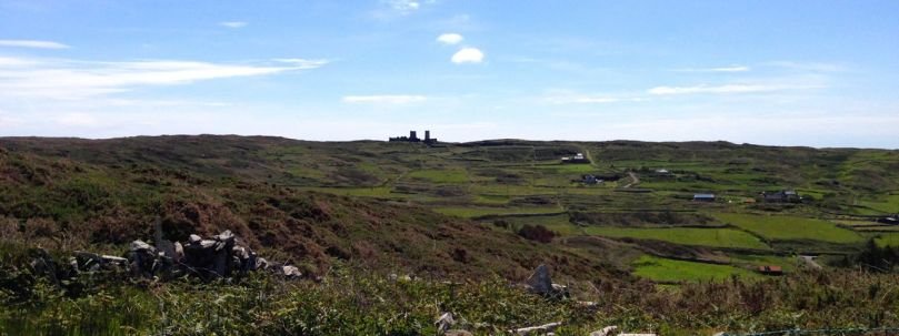 The original Cape Clear Lighthouse beside the signal tower