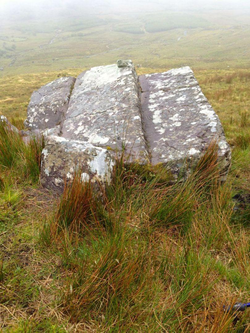 It's hard to see, isn't it? But tjis is one of the most iconic pieces of Irish rock art