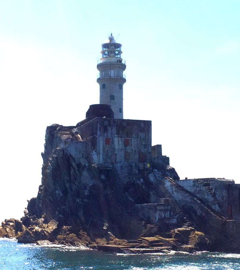 Fastnet, showing the steps and stores