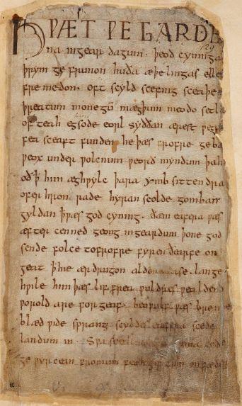 Original Beowulf manuscript