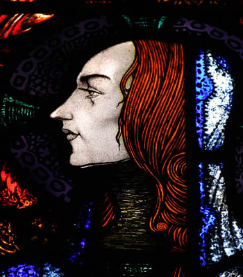 Saint Gobnait - window by Harry Clarke