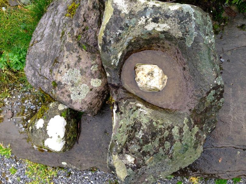 Bullaun at St Gobnait's Grave, Ballyvourney