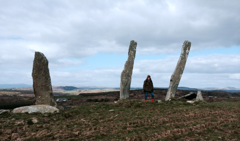 The Three Fingers at Gurranes, near Castletownshend, probably once a row of five or six stones