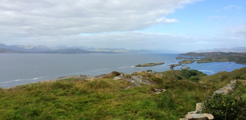 On the north side of the Beara, looking across to the Kerry Mountains.
