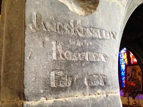 Medieval masons marks and graffiti