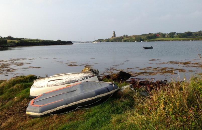 upturned boats