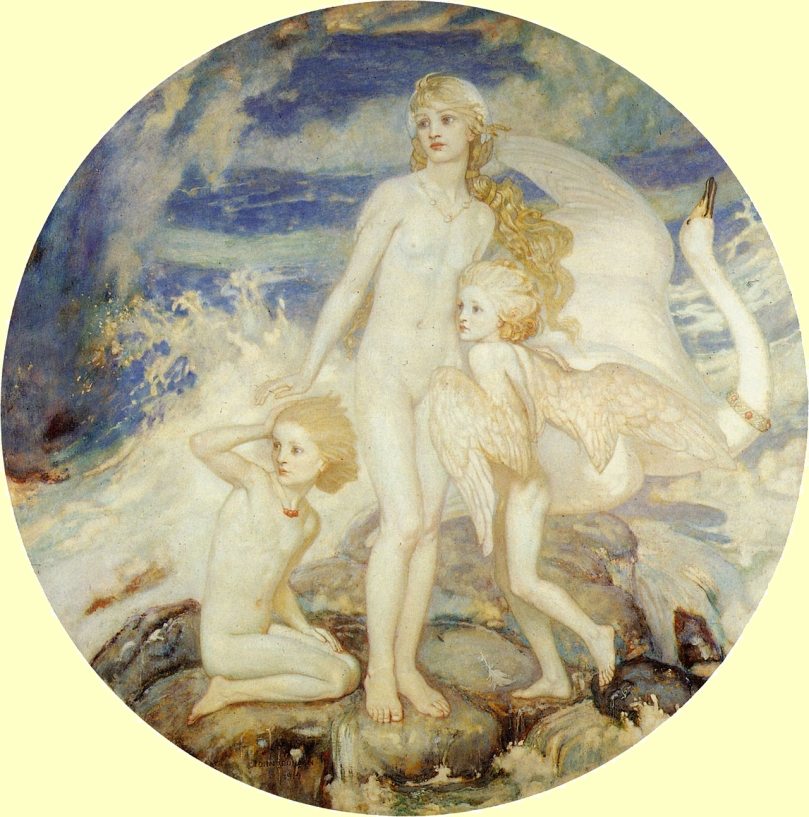 Children of Lir by John Duncan, 1914