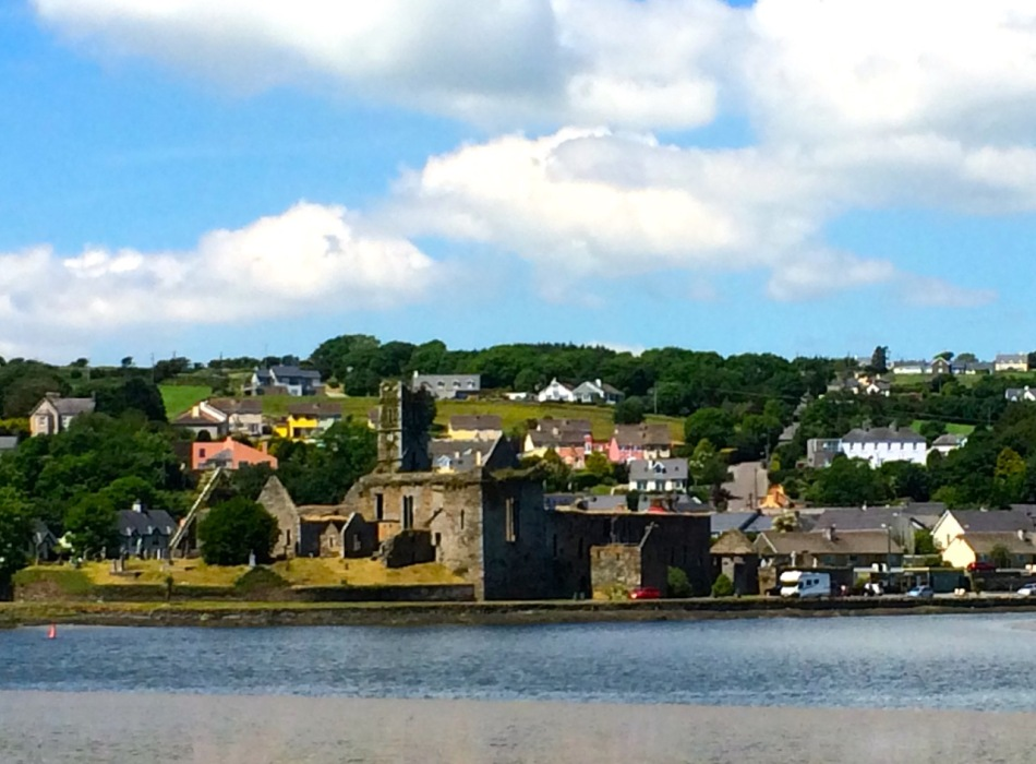 Looking across the river to the Friary