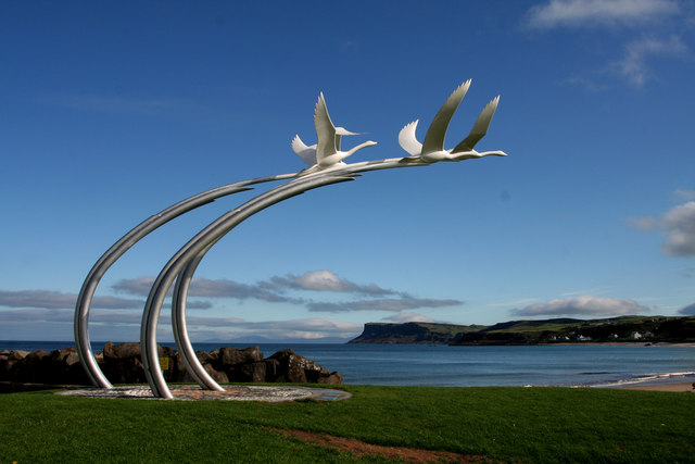 The story captured in sculpture at Ballycastle, County Mayo