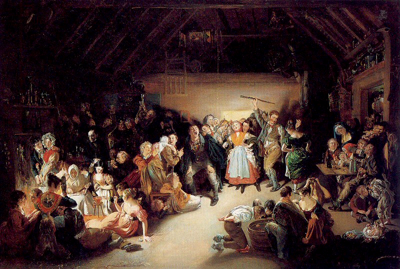 Snap-Apple Night by Irish painter Daniel Maclise, 1833