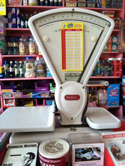 For weighing the sweets