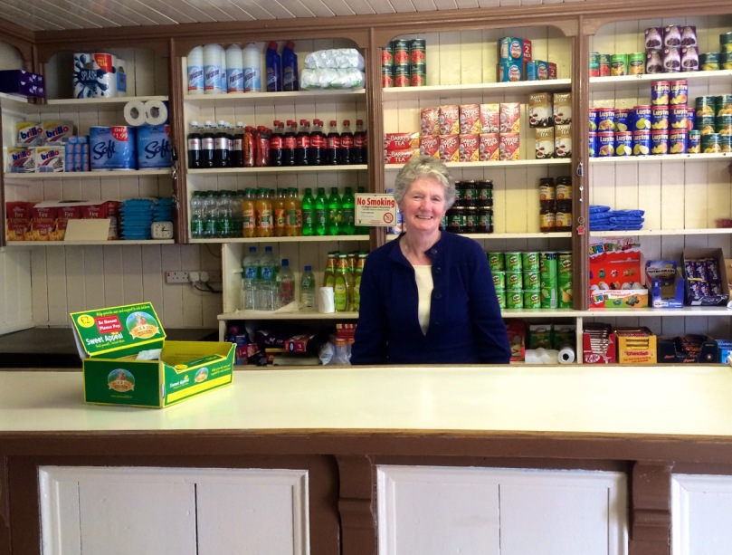 MIss Murphy in her traditional shop