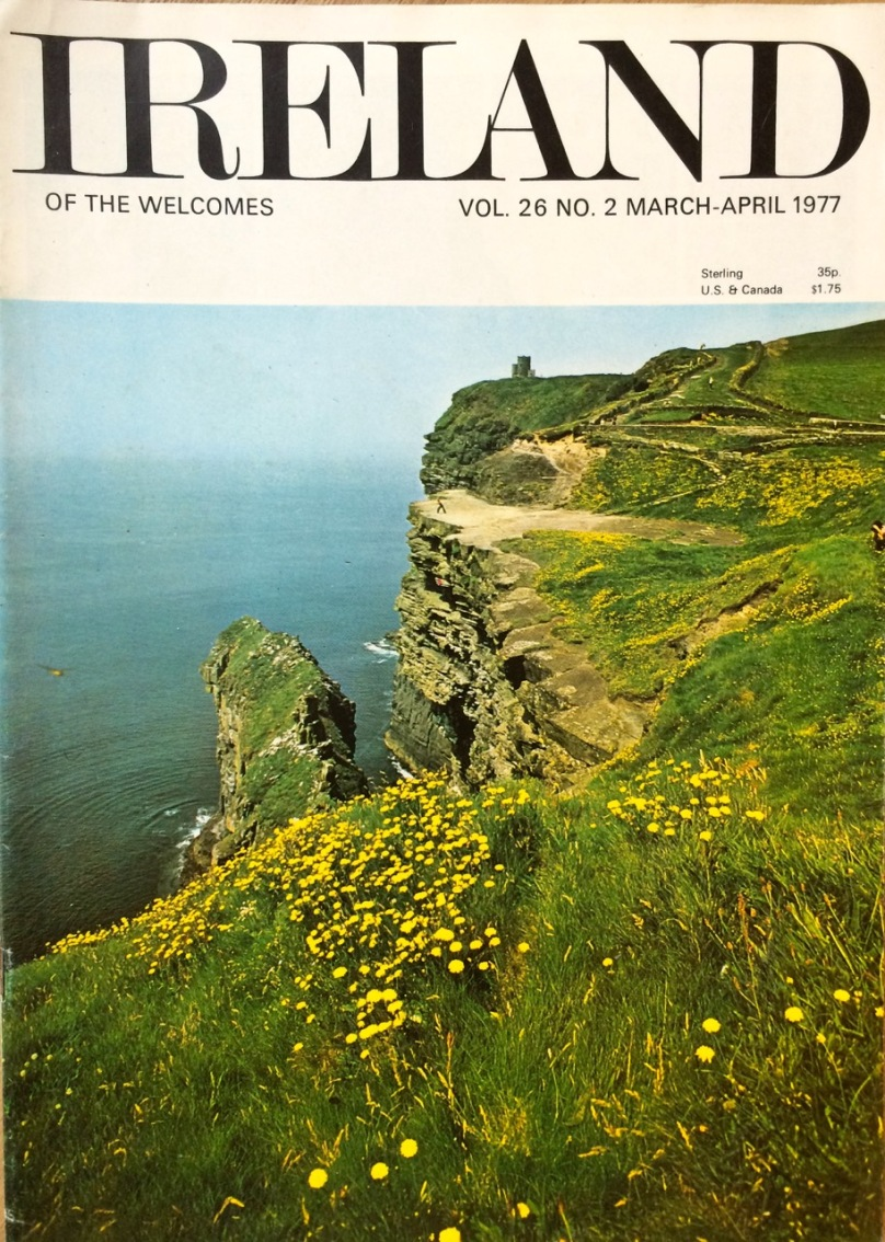 The Cliffs of Moher before the days of Visitor Centres and admission fees