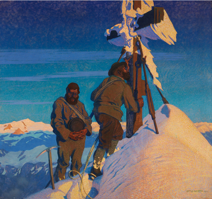 Morning prayers on the Großglockner, Otto Barth 1911