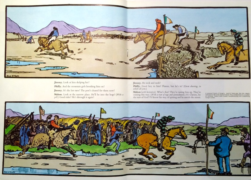 Jack B Yeat's illustration of the horse race in The Playboy of the Western World